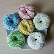 Куклы и игрушки ручной работы. Ярмарка Мастеров - ручная работа Вязаные пончики. Handmade.