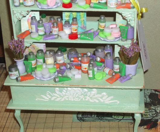Кукольный дом ручной работы. Ярмарка Мастеров - ручная работа. Купить Кукольная парфюмерия. Handmade. Кукольная миниатюра, дерево
