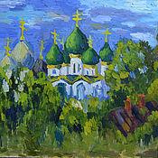 Картины и панно handmade. Livemaster - original item Pictures: Sunset in Rostov. Handmade.