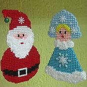 Куклы и игрушки ручной работы. Ярмарка Мастеров - ручная работа Дед Мороз и Снегурочка.. Handmade.