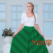 Одежда handmade. Livemaster - original item Skirt herringbone green. Handmade.