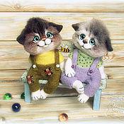Куклы и игрушки handmade. Livemaster - original item Kittens Platic and Salook felted. Handmade.