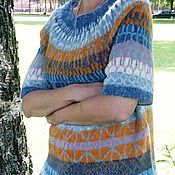 Одежда handmade. Livemaster - original item Short-sleeved sweater made in fair isle technique. Handmade.