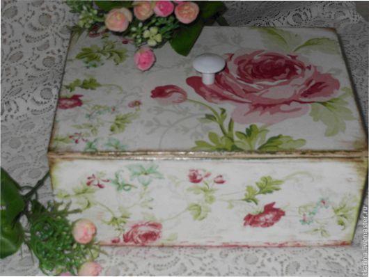 """Кухня ручной работы. Ярмарка Мастеров - ручная работа. Купить Короб для чая """"Розовый"""". Handmade. Бледно-розовый, фанера"""