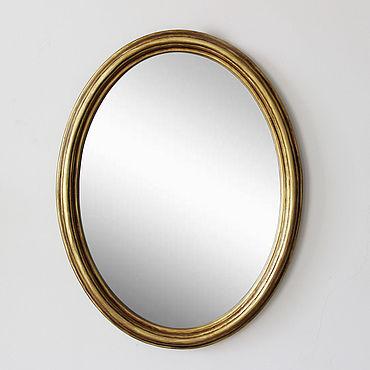Для дома и интерьера ручной работы. Ярмарка Мастеров - ручная работа Овальное зеркало Paiper, зеркало в комнату настенное, зеркало золото. Handmade.