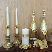 Свадебный салон ручной работы. Ярмарка Мастеров - ручная работа Свадебный набор «Золотой». Handmade.