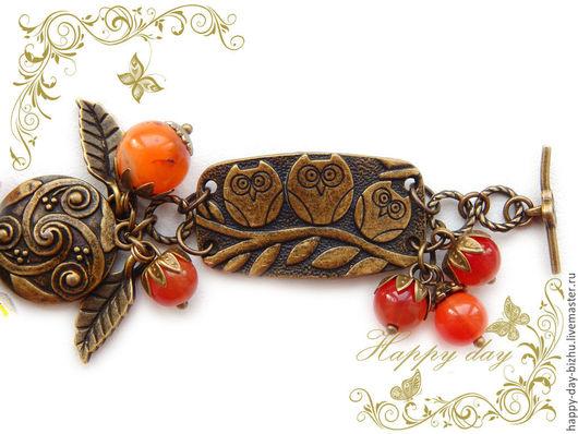 браслет, браслет женский, женский браслет, браслет женский, браслет на руку, браслет с совами, браслет с совой, украшение браслет, украшение с совой, браслет