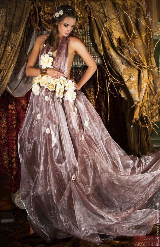 Платья ручной работы. Ярмарка Мастеров - ручная работа. Купить Воздушное платье. Handmade. Комбинированный, оригинальное украшение