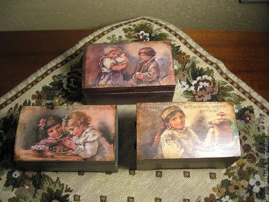 """Подарки на Пасху ручной работы. Ярмарка Мастеров - ручная работа. Купить Шкатулки-коробочки """"Пасхальные аварели Е.Бем"""". Handmade."""