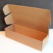 "Материалы для творчества ручной работы. Ярмарка Мастеров - ручная работа коробка ""Простая-27"" 35х12х9см для куклы длинная крафт. Handmade."