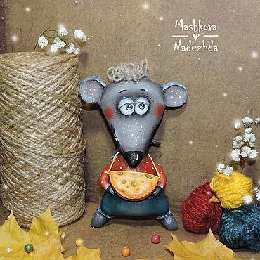 Куклы и игрушки ручной работы. Ярмарка Мастеров - ручная работа Мышь Игрушка ручной работы Крыса Символ года 2020  Елочная Новогодняя. Handmade.