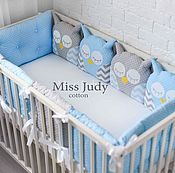 Работы для детей, handmade. Livemaster - original item Bumpers in the crib: Sowosky bumpers for cots. Handmade.