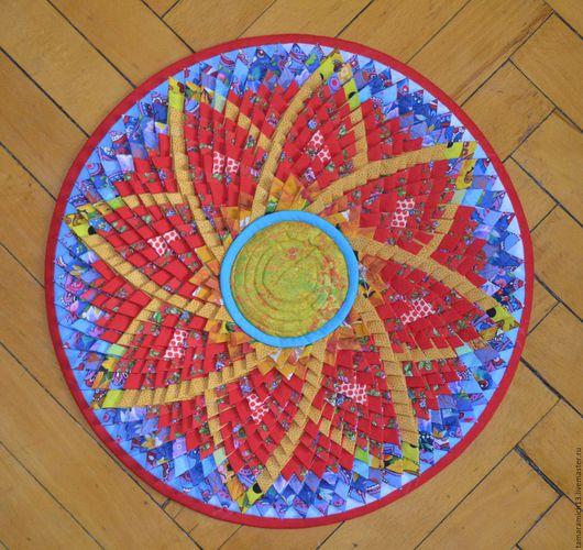 Текстиль, ковры ручной работы. Ярмарка Мастеров - ручная работа. Купить Цветок молодости. Handmade. Комбинированный, с радостью по жизни