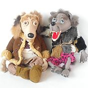 Куклы и игрушки handmade. Livemaster - original item Fairy-tale characters the Wolf and the Dog. Handmade.