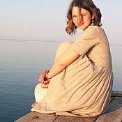 Одежда ручной работы. Ярмарка Мастеров - ручная работа Однотонное платье из натурального льна. Handmade.