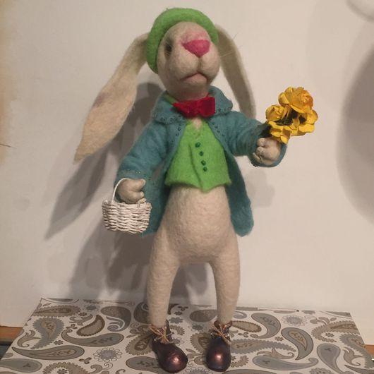 Игрушки животные, ручной работы. Ярмарка Мастеров - ручная работа. Купить Кролик Джо. Handmade. Зайка, кролик, шерсть 100%