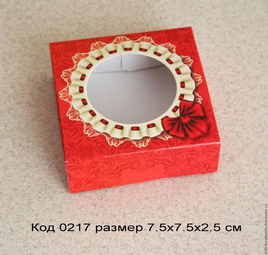 Коробочка квадратная код 0217   размер 9х6.5х2.5 см