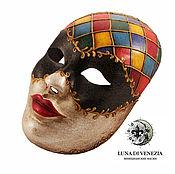 Одежда ручной работы. Ярмарка Мастеров - ручная работа Маска венецианская Арлекино (костюмная). Handmade.