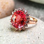 """Украшения ручной работы. Ярмарка Мастеров - ручная работа """"Цвет лотоса"""" кольцо с сапфирами на серебре 925 с розовой позолотой. Handmade."""