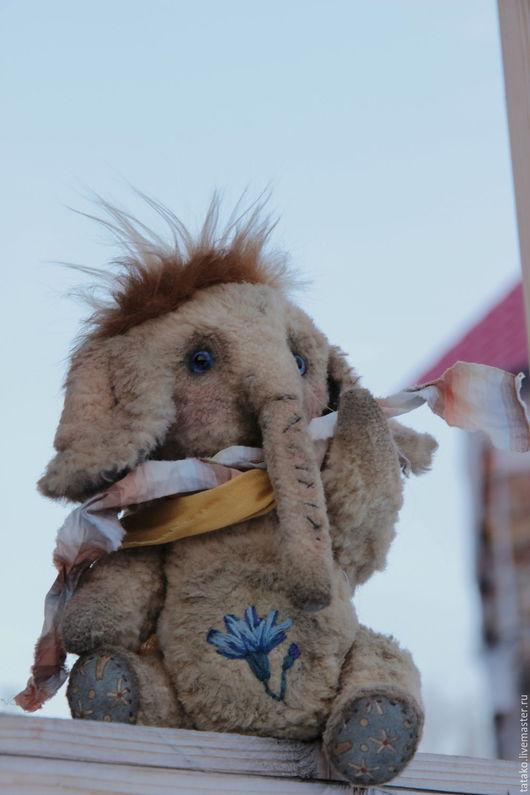 Мишки Тедди ручной работы. Ярмарка Мастеров - ручная работа. Купить тедди мамонтенок Василек. Handmade. Бежевый, слон тедди