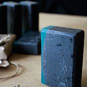 Косметика ручной работы handmade. Livemaster - original item Soap II with activated carbon and tea tree oil 125-130 g. Handmade.