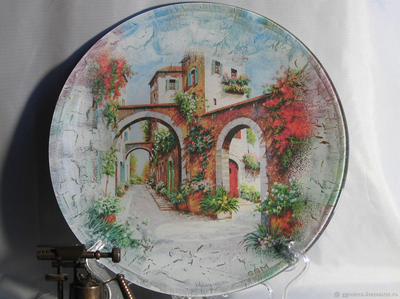 Пейзаж Прованс 3 Декоративная тарелка, Тарелки, Санкт-Петербург, Фото №1