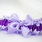 """Свадебный салон ручной работы. Ярмарка Мастеров - ручная работа Подвязка """"Фиолетовое счастье"""". Handmade."""