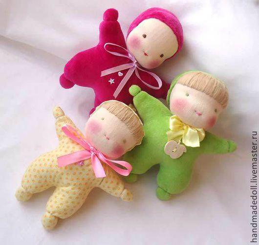 Вальдорфская игрушка ручной работы. Ярмарка Мастеров - ручная работа. Купить Куклы - бабочки. Handmade. Спальная кукла, вальдорфская кукла