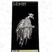 Винтаж handmade. Livemaster - original item Brooch Outlandish bird, Monet, USA, on the authentic map, birds. Handmade.
