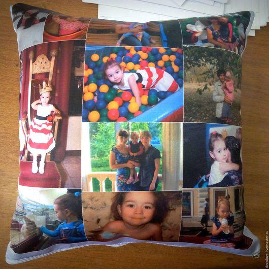Персональные подарки ручной работы. Ярмарка Мастеров - ручная работа. Купить Подушка с фото подарок девочке подарок на день рождения дочке ребенку. Handmade.