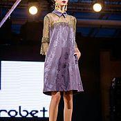 Одежда ручной работы. Ярмарка Мастеров - ручная работа Платье фиолетовые.. Handmade.