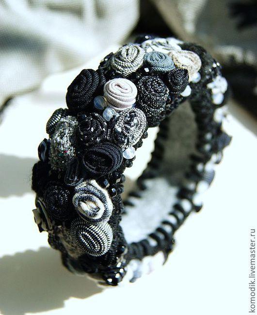 """Браслеты ручной работы. Ярмарка Мастеров - ручная работа. Купить браслет """"Черный блеск"""" с агатами. Handmade. Подарок женщине"""