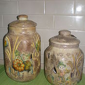 Для дома и интерьера handmade. Livemaster - original item A set of clay jars for storing onions and garlic Country. Handmade.