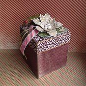 Подарки к праздникам ручной работы. Ярмарка Мастеров - ручная работа Новогодняя подарочная коробочка Magic Box Морозное утро. Handmade.