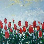 Картины ручной работы. Ярмарка Мастеров - ручная работа тюльпаны. Handmade.