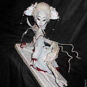 Куклы и игрушки ручной работы. Ярмарка Мастеров - ручная работа Белая Гейша и Дракон. Handmade.