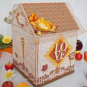 Свадебный салон ручной работы. Ярмарка Мастеров - ручная работа Большой Домик -казна на свадьбу ``Магия осени``. Handmade.