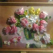 Картины ручной работы. Ярмарка Мастеров - ручная работа Тюльпаны в вазе. Handmade.