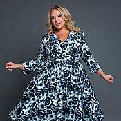 Платья ручной работы. Ярмарка Мастеров - ручная работа Коктейльное ретро платье большого размера. Handmade.