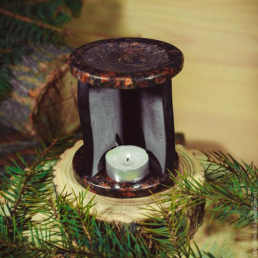 Релаксация, ароматерапия ручной работы. Ярмарка Мастеров - ручная работа. Купить Шунгит Аромалампа из натурального камня Шунгит и Гранит #АL3. Handmade.