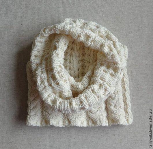 Шарфы и шарфики ручной работы. Ярмарка Мастеров - ручная работа. Купить Чудесный шарф цвета сливочного мороженого. Handmade. Белый