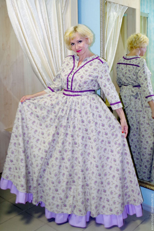 Платья ручной работы. Ярмарка Мастеров - ручная работа. Купить Платье длинное в деревенском стиле. Handmade. Разноцветный