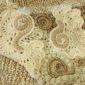Одежда ручной работы. Ярмарка Мастеров - ручная работа Стильный вязаный короткий кардиган в карамельных тонах. Handmade.