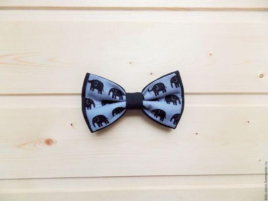 """Детские аксессуары ручной работы. Ярмарка Мастеров - ручная работа. Купить Детская галстук бабочка """"Слоники"""" / бабочка галстук со слонами. Handmade."""
