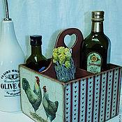 """Для дома и интерьера ручной работы. Ярмарка Мастеров - ручная работа Короб-подставка """"Птичник"""". Handmade."""