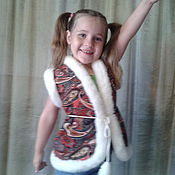 Работы для детей, ручной работы. Ярмарка Мастеров - ручная работа детский жилет,одежда. Handmade.