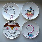 """Посуда ручной работы. Ярмарка Мастеров - ручная работа Сервиз """"Алиса в стране чудес"""". Handmade."""