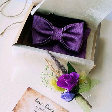 Accessories handmade. Livemaster - original item Bow tie, handkerchief and boutonniere. Handmade.
