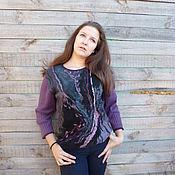 Одежда handmade. Livemaster - original item Women`s jumper Purple evening. Handmade.