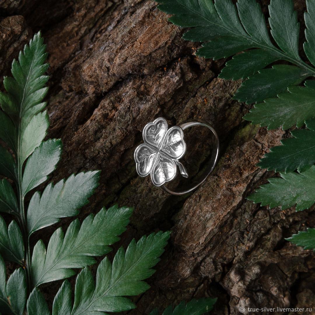 """Кольцо: """"Клевер"""" из серебра 925 пробы без эмали, Кольца, Москва,  Фото №1"""